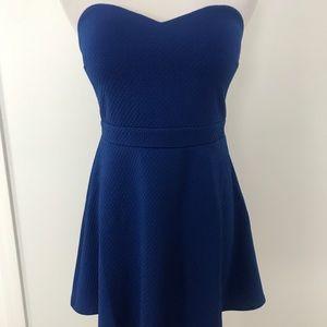 NWT forever 21 cobalt blue strapless dress